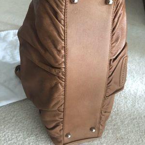 BCBGMaxAzria Bags - BCBGMAXAZRIA Tan Leather Shoulder bag
